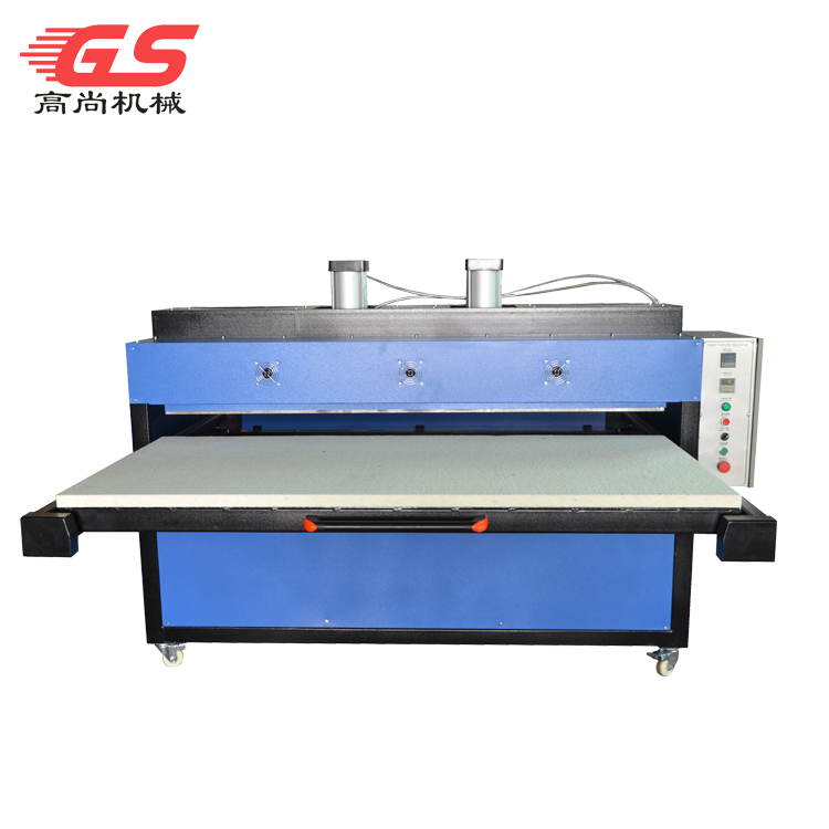 Double air cylinder pneumatic single station heat press machine