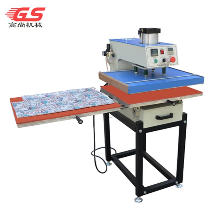 下滑式气动双工位烫画机GS-QD2