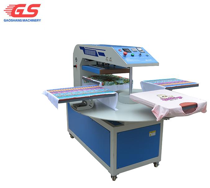 Automatic pneumatic four worktable 360 degree rotary heat press machine 40x50cm