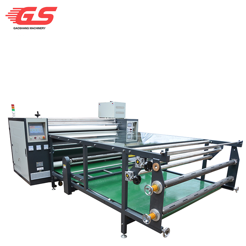 Automatic deviation rectifying system roll heat sublimation machine 600*1700mm